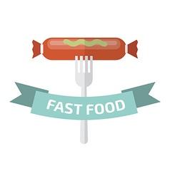 Fast food logo Junk food logo vector image