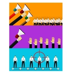 human resources and hiring vector image vector image
