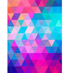 Line texture move on triangle background vector image vector image