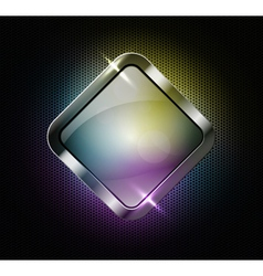 Multicolor glass banner vector image vector image