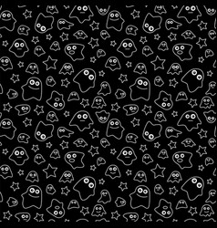 seamless pattern ghost vector image vector image