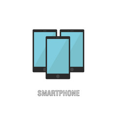 smartphones isolated flat design vector image vector image