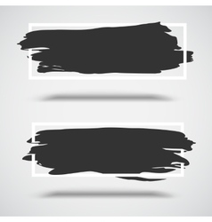 Black grunge banners on white background with vector image vector image