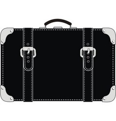 black leather suitcase vector image vector image