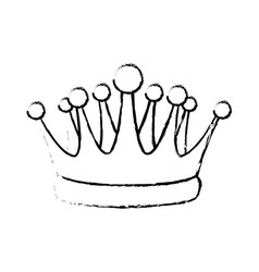 crown kindom royalty luxury icon vector image