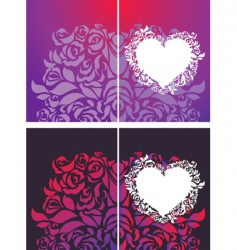 heart and roses petals backgrounds vector image vector image