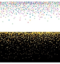 Multicolor and golden confetti banners vector image vector image