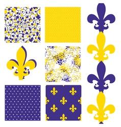 seamless patterns set vector image