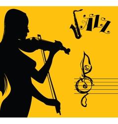 sexy jazz vector image vector image
