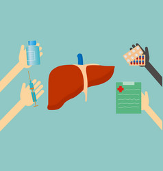 treatment of liver vector image