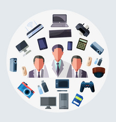 business technology tool vector image