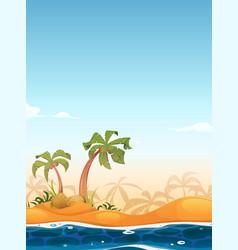 exotic beach landscape vector image