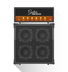 flat style electric guitar combo amplifier cabinet vector image