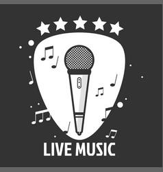 live music emblem vector image vector image