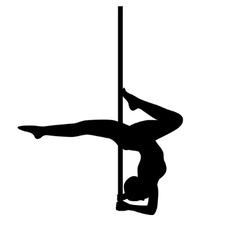 Pole dancer in pole dance Stand on the elbows vector image