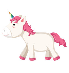 a unicorn character on white background vector image