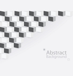 Abstract background square 3d modern paper vector