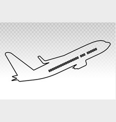 Airplane aeroplane aviation line art icon on a vector