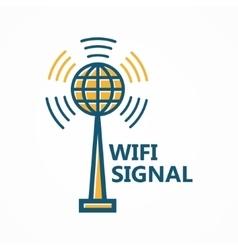 Antenna tower icon or logo vector