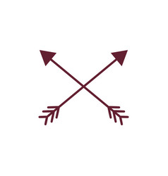 Arrows in cross with pointer design vector