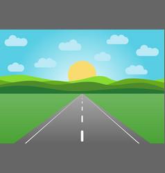 asphalt road leaving into the horizon vector image