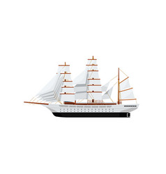 Big caravel isolated on white icon vector