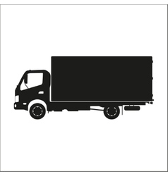 Black silhouette of a truck on a white background vector