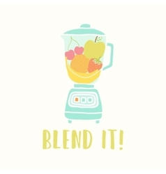 Blender with fruits vector