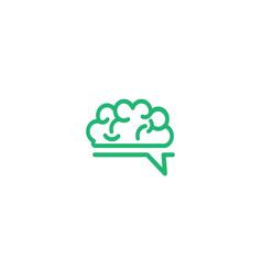 brain talk idea logo template vector image