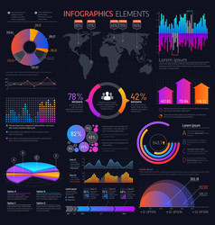 business infographics elements charts and graphs vector image