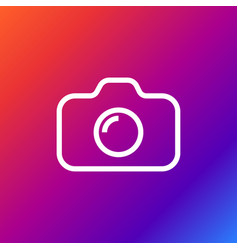 Camera icon on colored background vector