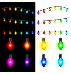 Christmas lights set vector