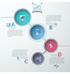 circle arrows for infographic vector image