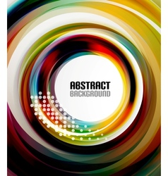 Circle geometrical colorful wave dotted background vector