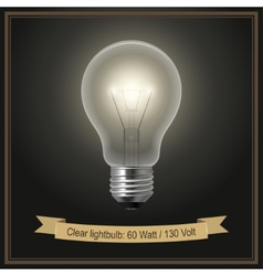 Clear lightbulb vector