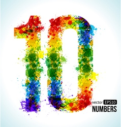 Color paint splashes Gradient Number 10 vector