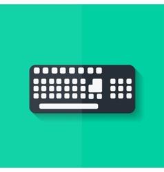Computer keyboard web icon Flat design vector