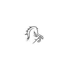 creative horse abstract logo vector image