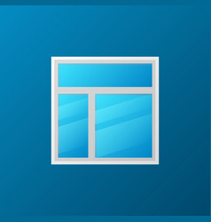Creative plastic window concept icon vector