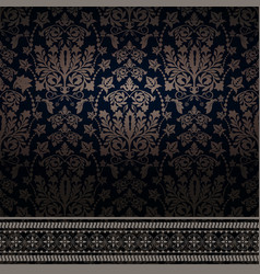 Damask for web cards vector