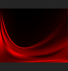 Dark background with red velvet fabric vector