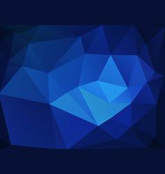 dark blue abstract triangular background vector image