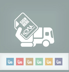 delivery document sign vector image