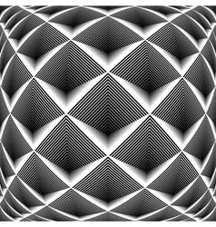 Design monochrome diamond geometric pattern vector