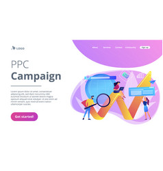 Digital marketing concept landing page vector