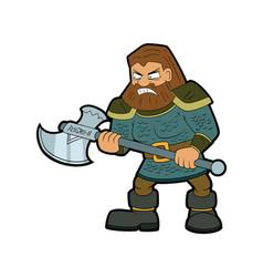 dwarf warrior vector image