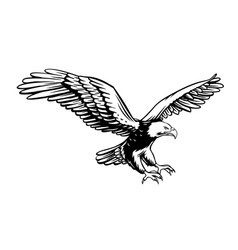 Eagle retro icon vector
