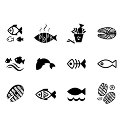 Fish icon or logo set vector