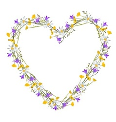 Flowers wild at heart vector