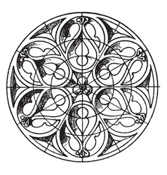 Gothic boss circular panel is a 16th century vector